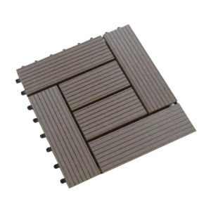 Easy Installed WPC Decking Tile Composite Plastic Decking Tile pictures & photos