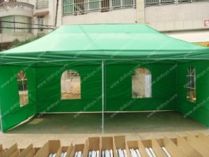 Waterproof folding tent with sidewalls