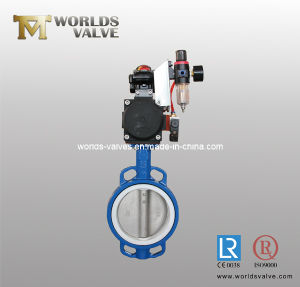 Pneumatic Wafer Butterfly Valve with Positioner (D67X-10/16)