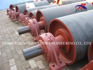 Conveyor Steel Drum Pulley with Rubber Lagging pictures & photos