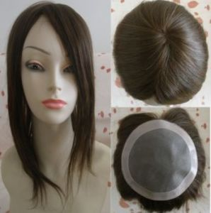 100%Human Hair Toupees for Women