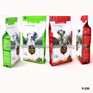 Quad Sealed Dog Food Bag with Zipper pictures & photos