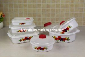 6 PCS Microwave Plastic Food Storage Containers (LS-2008)