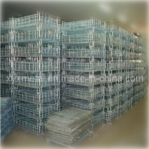 Galvanizied or Powder Coating Folding and Stackable Steel Storage Basket pictures & photos