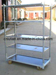 Danish Trolley Steel Frame and Wood Shelves