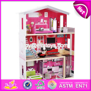 New Design Girls Pretend Toys Wooden Huge Dollhouse W06A229 pictures & photos
