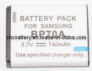 Rechargeable Digital Camera Battery for Samsung BP70A