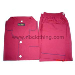Mens Woven Plain Colour Pyjamas Set