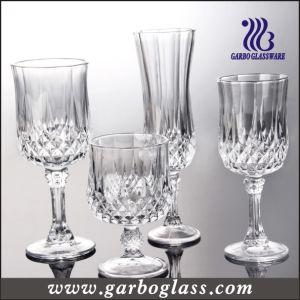 Glass Cup/Glass Tumbler/Crystalline High Stemware Glass (GB040206ZS) pictures & photos