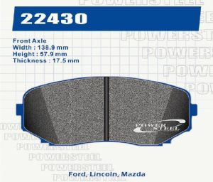 D1258 Brake Pads for Ford, Lincoln, Mazda pictures & photos