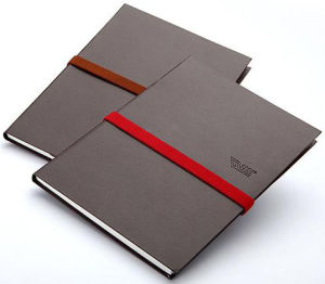 Black Colour Leather Cover Notebook (YY--N0204) pictures & photos