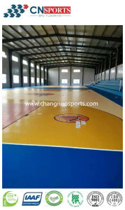 Shock Reduction Silicone PU Basketball Court of Wooden Texture Style pictures & photos