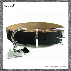 Black Cow Leather Dog Collar (SPC7018-1) pictures & photos