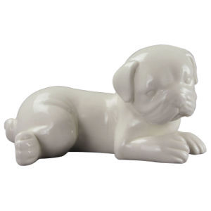 Animal Shaped Porcelain Craft, Ceramic Dog for Home Decoration pictures & photos