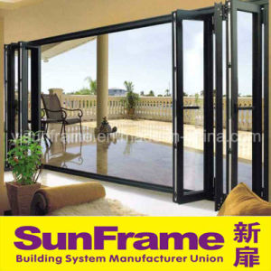 Aluminium Bi-Folding Metal Door for Balcony Use pictures & photos