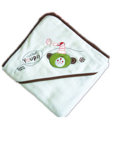 High Quality Baby 100%Cotton Hooded Terry Bath Towel pictures & photos