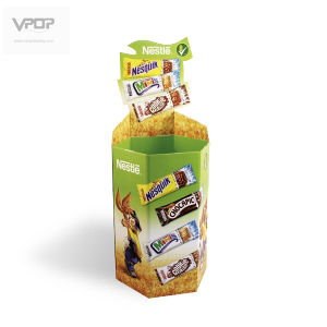 Hexagon Cardboard Dump Bins for Cookies/Chocolate
