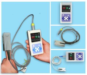 Finger SpO2 Oximeter Handheld Pulse Oximeters (CMS60D) pictures & photos