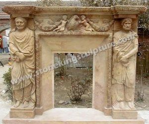 Marble Fireplace Marble Carved Fireplace (SK-2626) pictures & photos