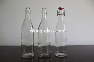 750ml Crystal Glass Vodka Bottle with Swing Top