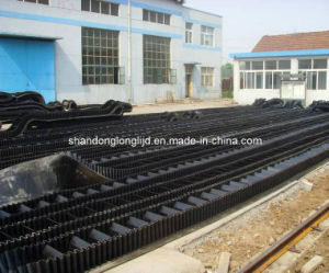 Corrugated Sidewall Conveyor Belt in Rubber