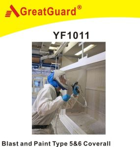 Greatguard Spray and Blasting Microporous Type 5&6 Coverall (YF1011) pictures & photos