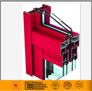 Aama Standard Thermal Break Alumium Casement Window Extrusion pictures & photos