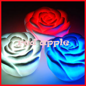 Colorful Rose Night Light
