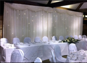 Konelite White LED Star Drapes for Weddings/White LED Star Curtain for Wedding