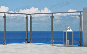 Exterior Glass Railing with Stainless Steel Post System pictures & photos