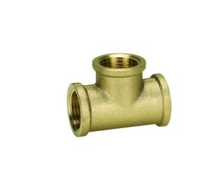 Brass Fittings Tee F/F/F for Aluminium Plastic Pipe pictures & photos