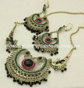 Stone Necklace and Earrings Sets/ Fashion Jewelry Sets/ Crystal and Stones Necklace Sets (XJW12244) pictures & photos