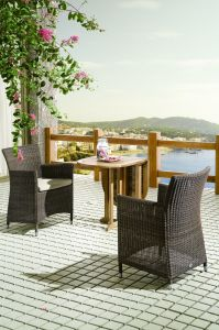 Outdoor Wicker Patio Furniture Balcony Rattan Hone Hotel Office Dining Chairs and Table (J375R) pictures & photos