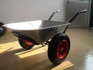 Double Wheel and Deepth Tray Wheel Barrow (WB6407) pictures & photos