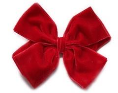 Velvet Hair Bow, Hair Accessory, Hair Ornament, Winter Hair Bows, Kid′s Gift (VB-01)