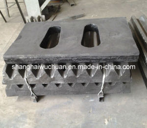 Jaw Crusher Parts Jaw Plate and Toggle Plate pictures & photos