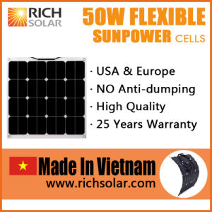 50W Flexible Solar Panel Sunpower Solar Cell Made in Vietnam pictures & photos