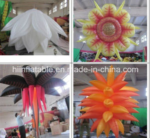 2015 Customize Chain Wedding Giant Inflatable Rose Flower Decoration, Inflatable Weeding Flower