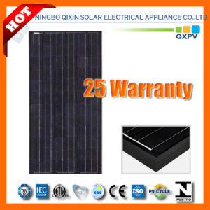 185W 125*125 Black Mono-Crystalline Solar Panel pictures & photos