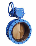 Double Flanged Type Concentric Butterfly Valve (gear operator) pictures & photos
