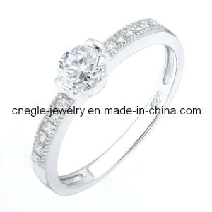 Graceful Wedding Ring/925 Silver Ring/CZ Ring