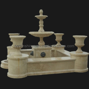 Marble Carving Pedestal Fountain (FNT109) pictures & photos
