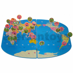Wooden World Map Toy (81433) pictures & photos
