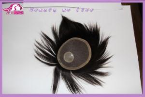 Men′s Hand Tied Hair Piece Toupee pictures & photos