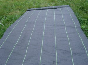Green Color 100% PP Woven Weed Control Mat
