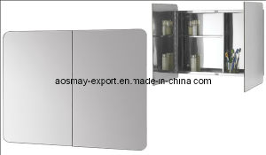 Stainless Steel Mirror Cabinet with One Door (ASM-380)
