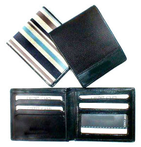 PU and Canvas Wallet Purse with Card Holder Bag (MS9009) pictures & photos