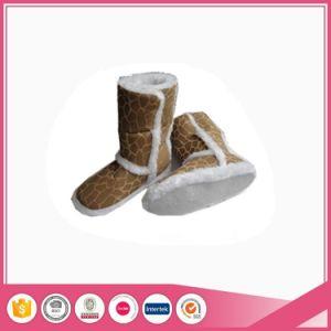 Women Snow Micro Suede Indoor Boots pictures & photos