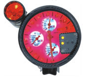 5inch Four in One Gauge, Rpm/Oil Temp. Volts. Water Temp LED 4-in-1 Auto Gauge