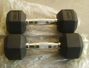 Hot Sale Rubber Hex Dumbbell/Tz-3001/Body Building Gym Equipemnt /Muscle Exercise Fitness Machine pictures & photos